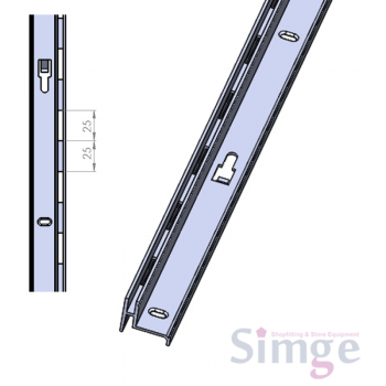 Single Slotted End of Run Recessed Upright